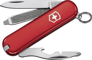 SWISS ARMY VICTORINOX 54021 RALLY RED MULTI FUNCTION POCKET KNIFE.