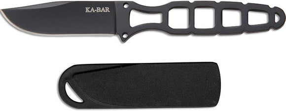 KABAR 1118BP SKELETON 5CR15 BLADE STEEL NECK CARRY KNIFE WITH SHEATH.