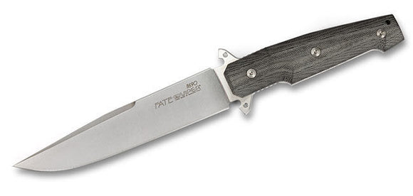 VIPER BLADES KV0188 FATE SATIN FINISH N690 STEEL FIXED BLADE KNIFE WITH SHEATH.