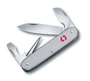 SWISS ARMY VICTORINOX 53781 ELECTRICIAN SILVER ALOX MULTI FUNCTION POCKET KNIFE.