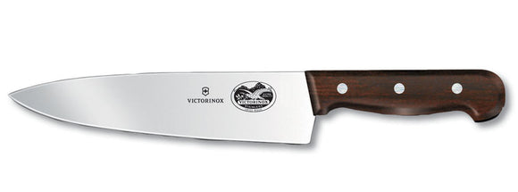 SWISS ARMY VICTORINOX 5.2060.20RUS3 8 INCH CHEFS ROSEWOOD KITCHEN KNIFE.