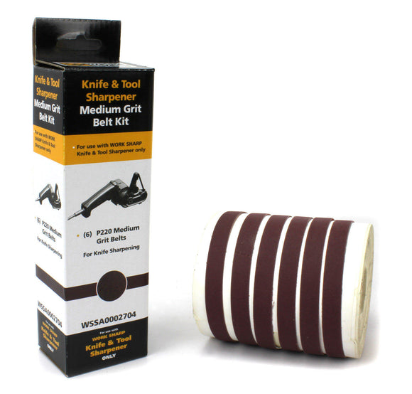 WORK SHARP WSSA0002704 09DX012 P220 ABRASIVE BELT KIT FOR WORK SHARP SHARPENER.