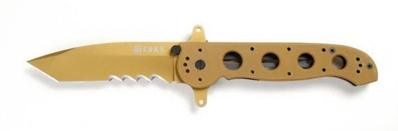 CRKT M16-14DSFG SPECIAL FORCES TAN G10 FOLDING KNIFE.