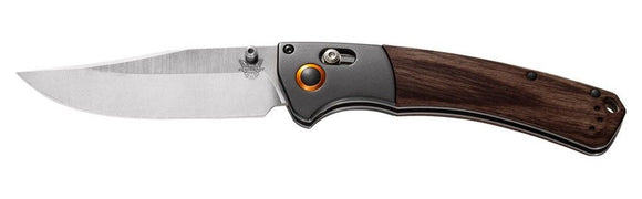 BENCHMADE 15080-2 CROOKED RIVER AXIS CPM-S30V STEEL PLAIN EDGE FOLDING KNIFE.