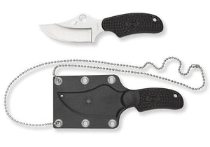 Spyderco Fb35pbk Ark H1 Steel Always Ready Knife Fixed Blade Knife With Sheath