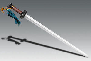 COLD STEEL 88FG BATTLE GIM DAMASCUS SWORD WITH SCABBARD. GREAT PRICE