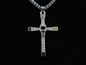 Crystalized Silver Cross