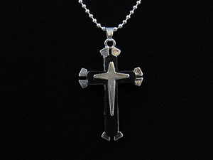 Silver - Black Cross
