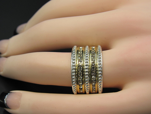 Wide Crystal Eternity Band