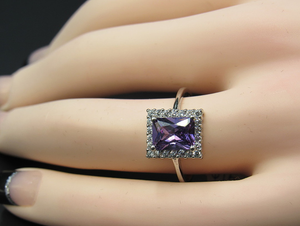 Emerald Cut Violet Quartz