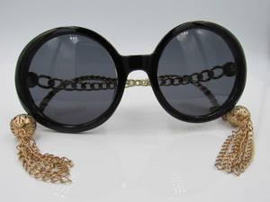 Black and Gold Dangle Sunglasses