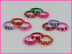 Kiddie Plastic Design Rings
