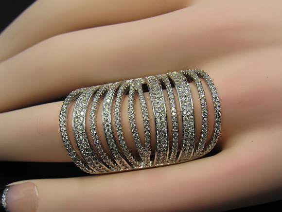 Bohemian Pave Finger Length