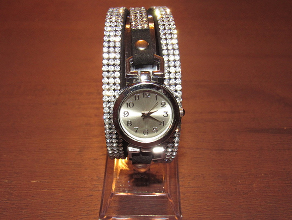 Three Band Crystal Watch