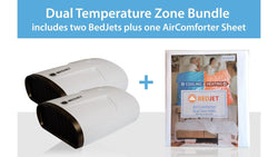 BedJet V2 Dual Zone Climate Comfort System with Biorhythm Sleep Technology + BedJet Dual Zone AirComfort Cloud Sheet