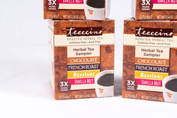 Teeccino Classic Roasted Herbal Tea Sampler Box - 4 Pack