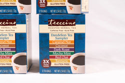 Teeccino Dandelion Roasted Herbal Tea Sampler Box - 4 Pack