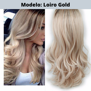 Mega Hair - Lace Front  - Loiro Gold