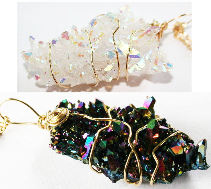 Beautiful Aura Quartz Crystals