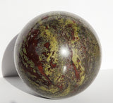 Dragon Blood Stone Jasper Sphere 160 mm / 15 lb - Energy Peace Shop