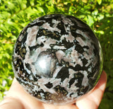 "Mystic Merlinite / Indigo Gabbro Sphere 3"" - Energy Peace Shop"