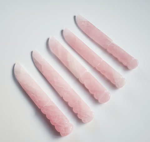 "Rose Quartz Crystal Knife 8"" - Energy Peace Shop"
