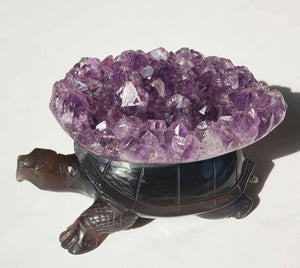 Amethyst Cluster Tortoise / Turtle - Energy Peace Shop