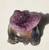 Amethyst Geode Turtle / Tortoise - Energy Peace Shop