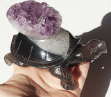 Amethyst Cluster Tortoise / Turtle Large - Energy Peace Shop
