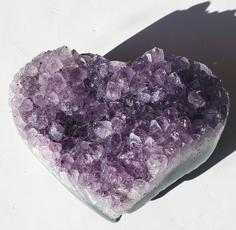 Amethyst Crystal cluster Heart Large - Energy Peace Shop