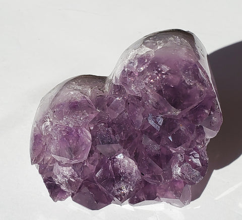 Amethyst Crystal cluster Heart small - Energy Peace Shop