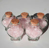Rose Quartz in a heart bottle / Small Rose Quartz / 1 bottle - Energy Peace Shop