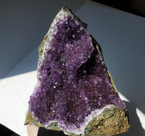Amethyst Crystal cathedral cluster
