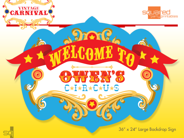 graphic regarding Carnival Printable identify Custom made Circus Birthday Backdrop Get together Printable Indicator within Key Hues, Traditional Carnival Celebration Indicator, Circo Carnaval, PDF document on your own print by yourself
