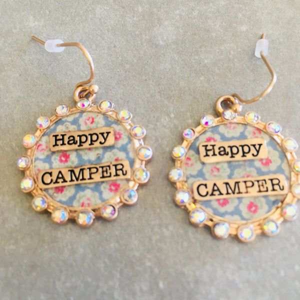 Happy Camper Crystal Earrings