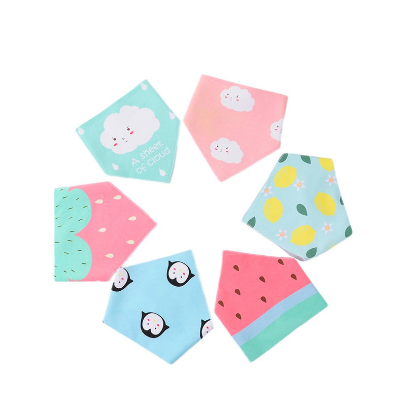 Unisex Baby Organic Cotton Bibs 6 Pack Triangle Newborn Bibs Set