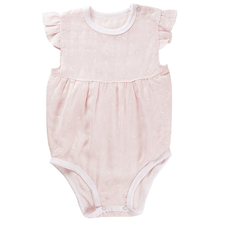 Pink Dot Unisex baby Sleeveless Bodysuit Summer Cotton Rompers