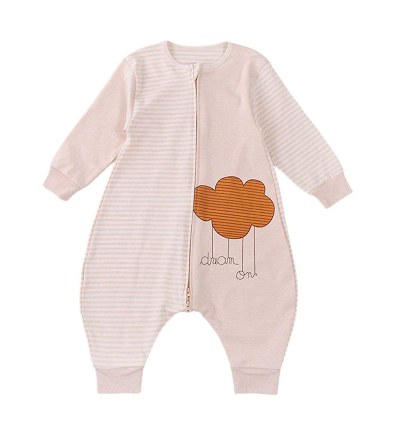 Unisex Baby Sleeping Bag 100% Natural Cotton Wearable Blanket Cloud Romper