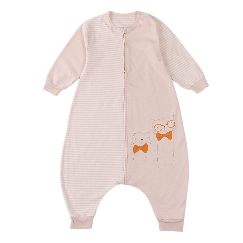 Unisex Baby Sleeping Bag 100% Natural Cotton Wearable Blanket Cat Romper