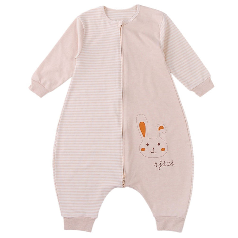 Unisex Baby Sleeping Bag 100% Natural Cotton Wearable Blanket Rabbit Romper