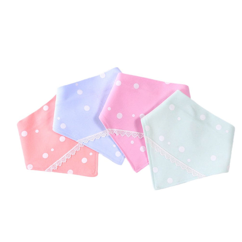 Unisex Baby Organic Cotton 4 Pack Super Soft Baby Bibs Set