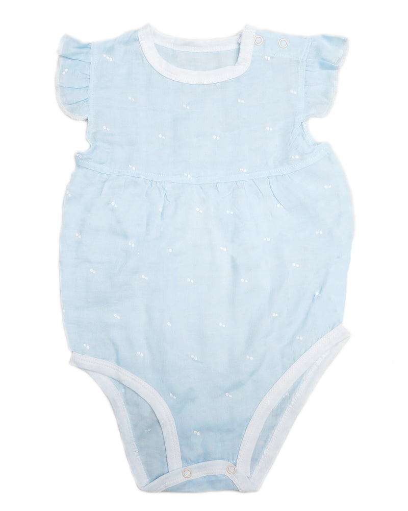 Blue Dot Unisex baby Sleeveless Bodysuit Summer Cotton Rompers