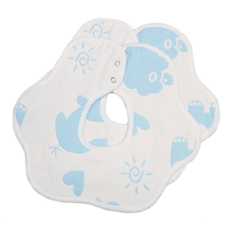 Unisex Sky Baby Bibs 2 Pack 100% Cotton Infant Handkerchiefs