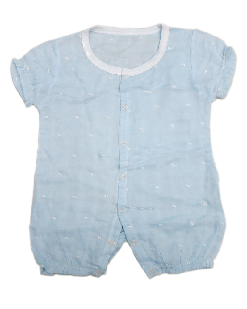Blue Dot Unisex baby Sleeve Bodysuit Summer Cotton Toddler Rompers