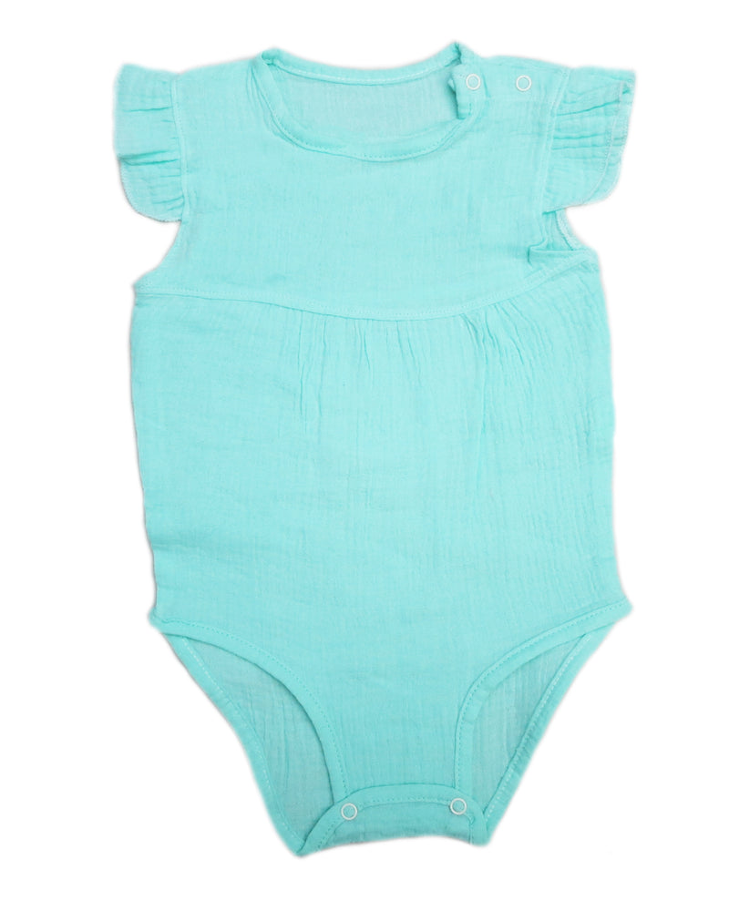 Green Unisex baby Sleeveless Bodysuit Summer Cotton Rompers