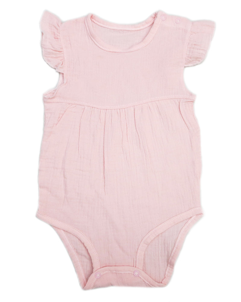 Pink Unisex baby Sleeveless Bodysuit Summer Cotton Rompers