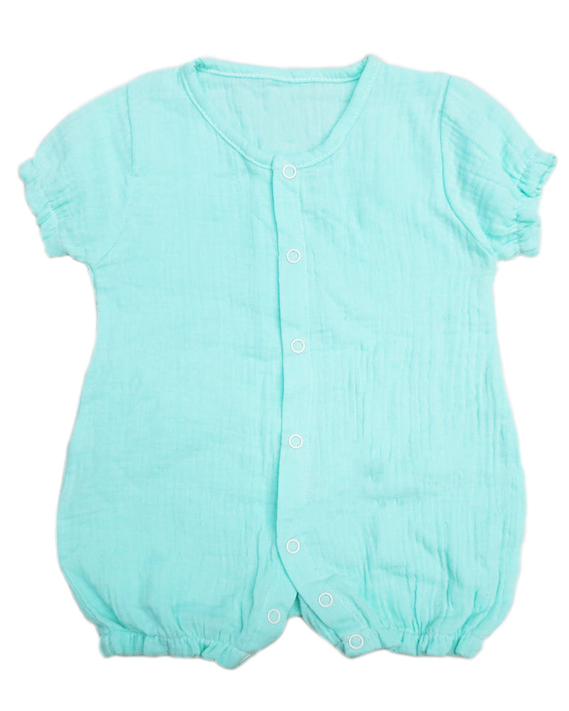 Green Unisex baby Sleeve Bodysuit Summer Cotton Toddler Rompers
