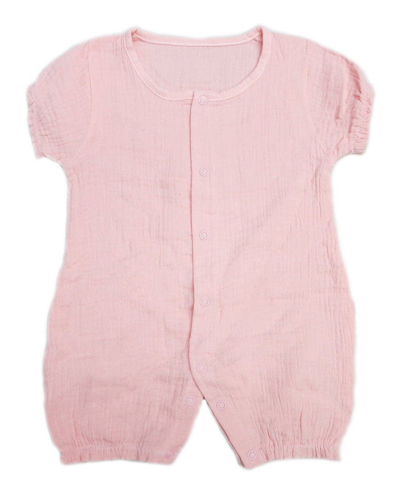 Pink Unisex baby Sleeve Bodysuit Summer Cotton Toddler Rompers