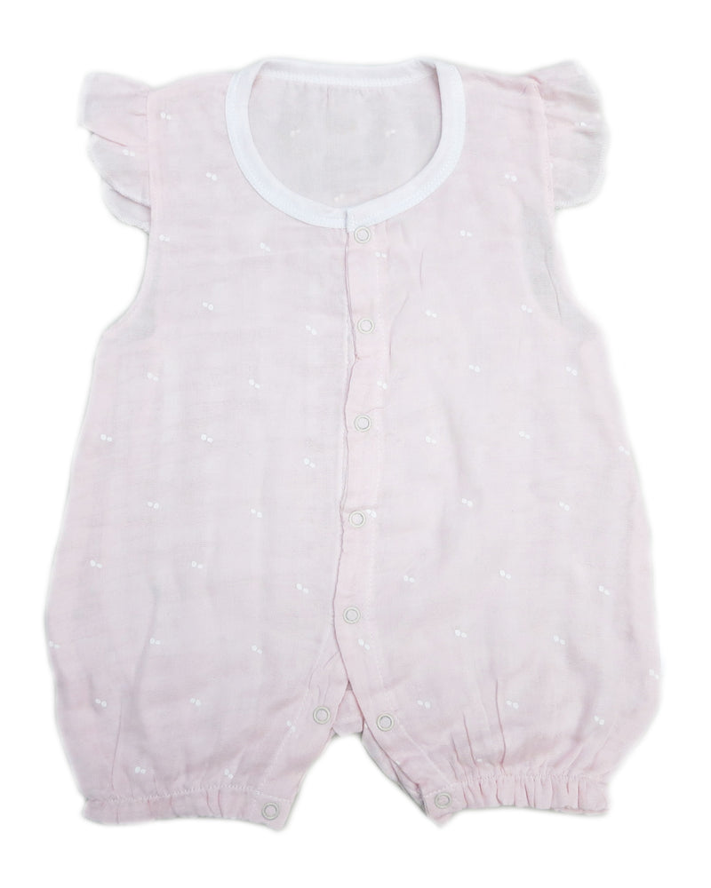 Pink Dot Unisex baby Sleeveless Bodysuit Summer Cotton Toddler Rompers