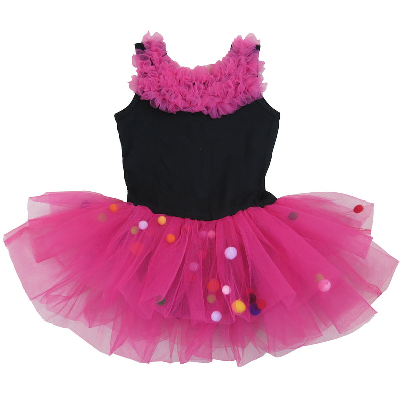 Black Multicolor Ball Ballet  Dress
